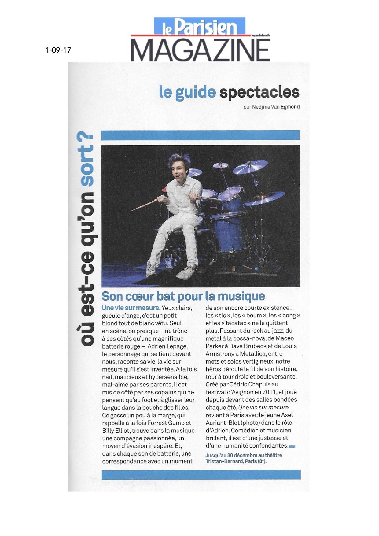 Parisien Magazine 01.09.17