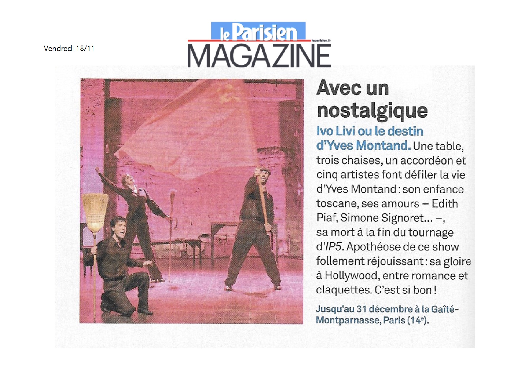 Parisien Magazine 18.11.16