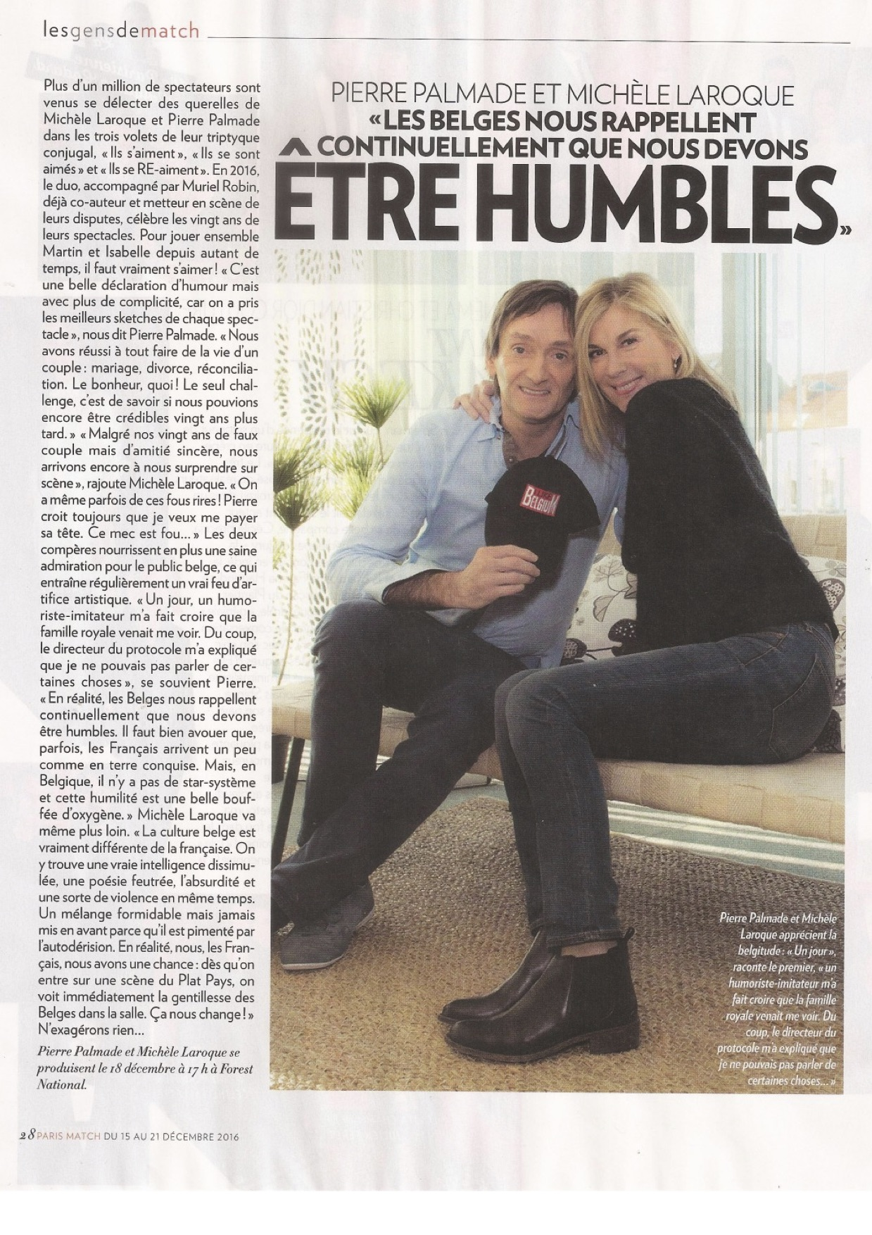 Paris Match belgique 15.12.16