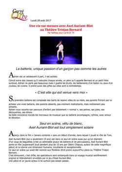 Carréor.tv blog 28.08.17