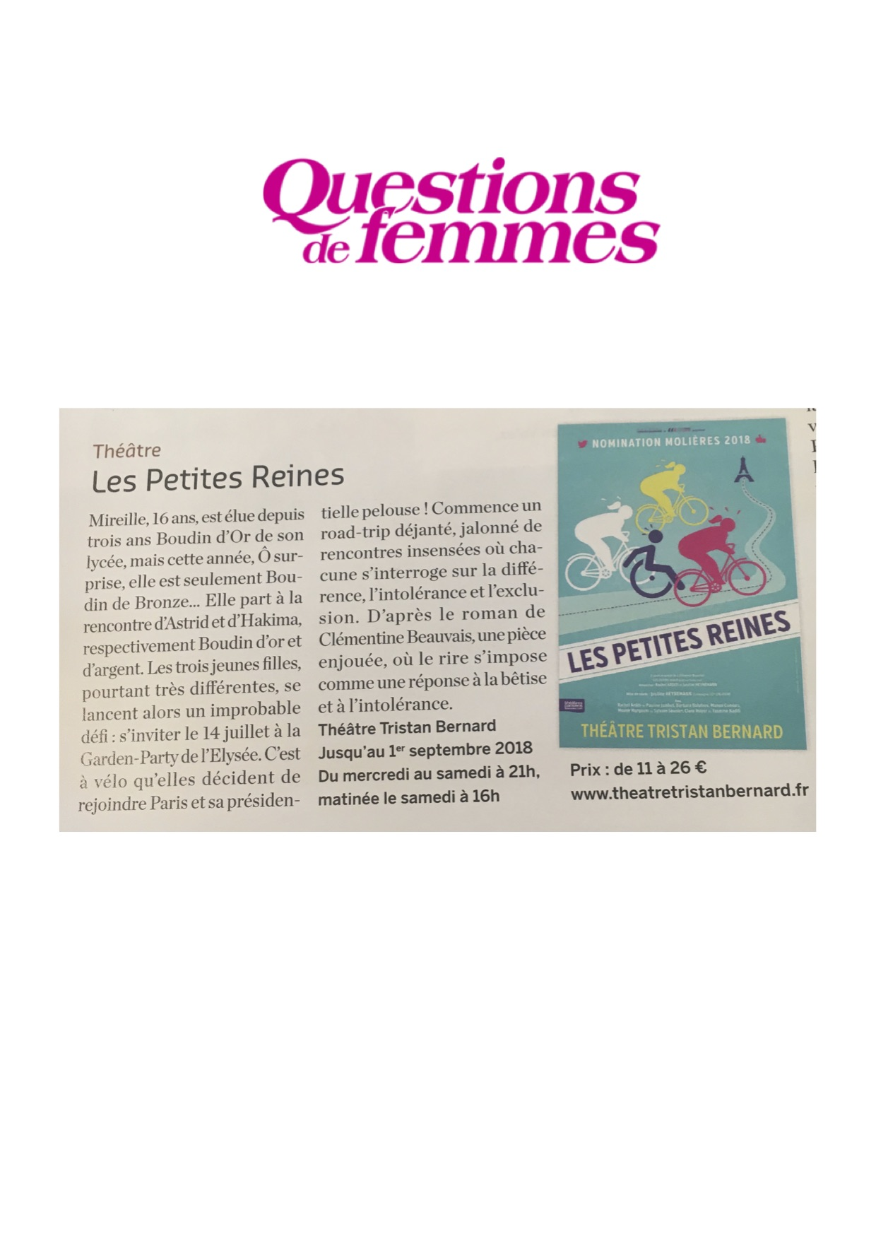 Questions de femmes 05.06.18
