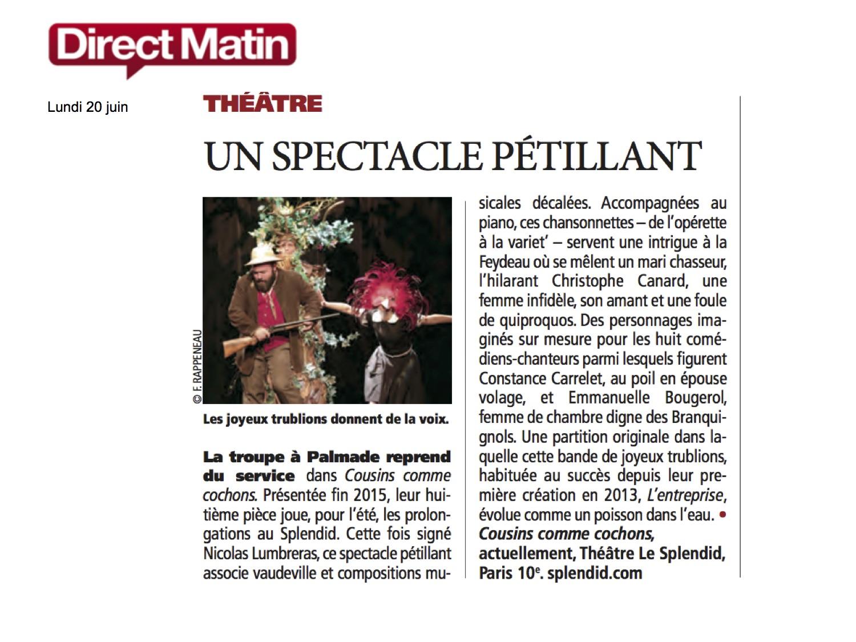 Direct Matin 20.06.16