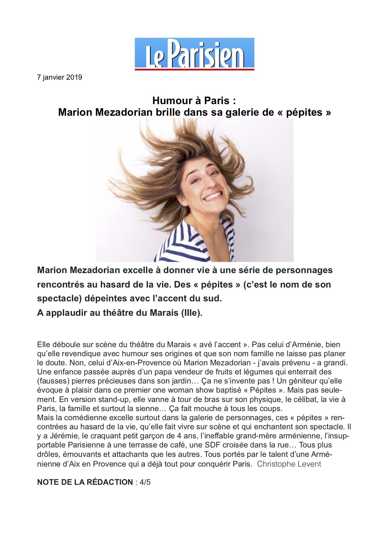 Le Parisien 07.01.19