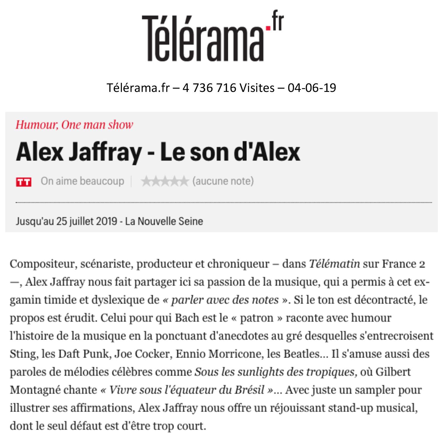 Télérama.fr 04.06.19