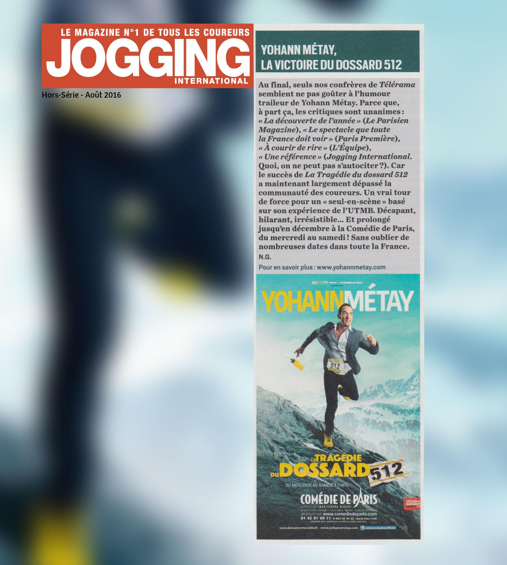 Jogging International aout 2016