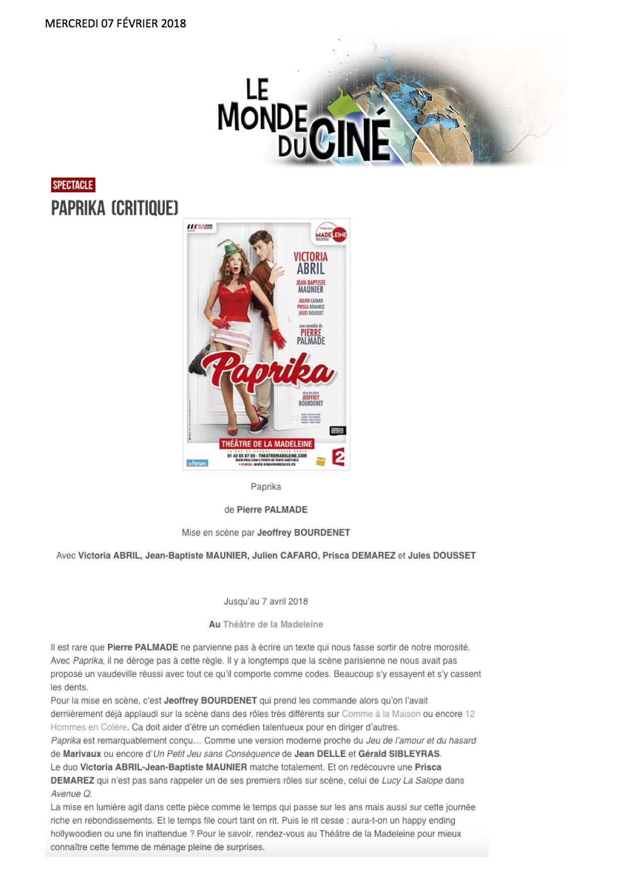 Le Monde du ciné 07.02.18
