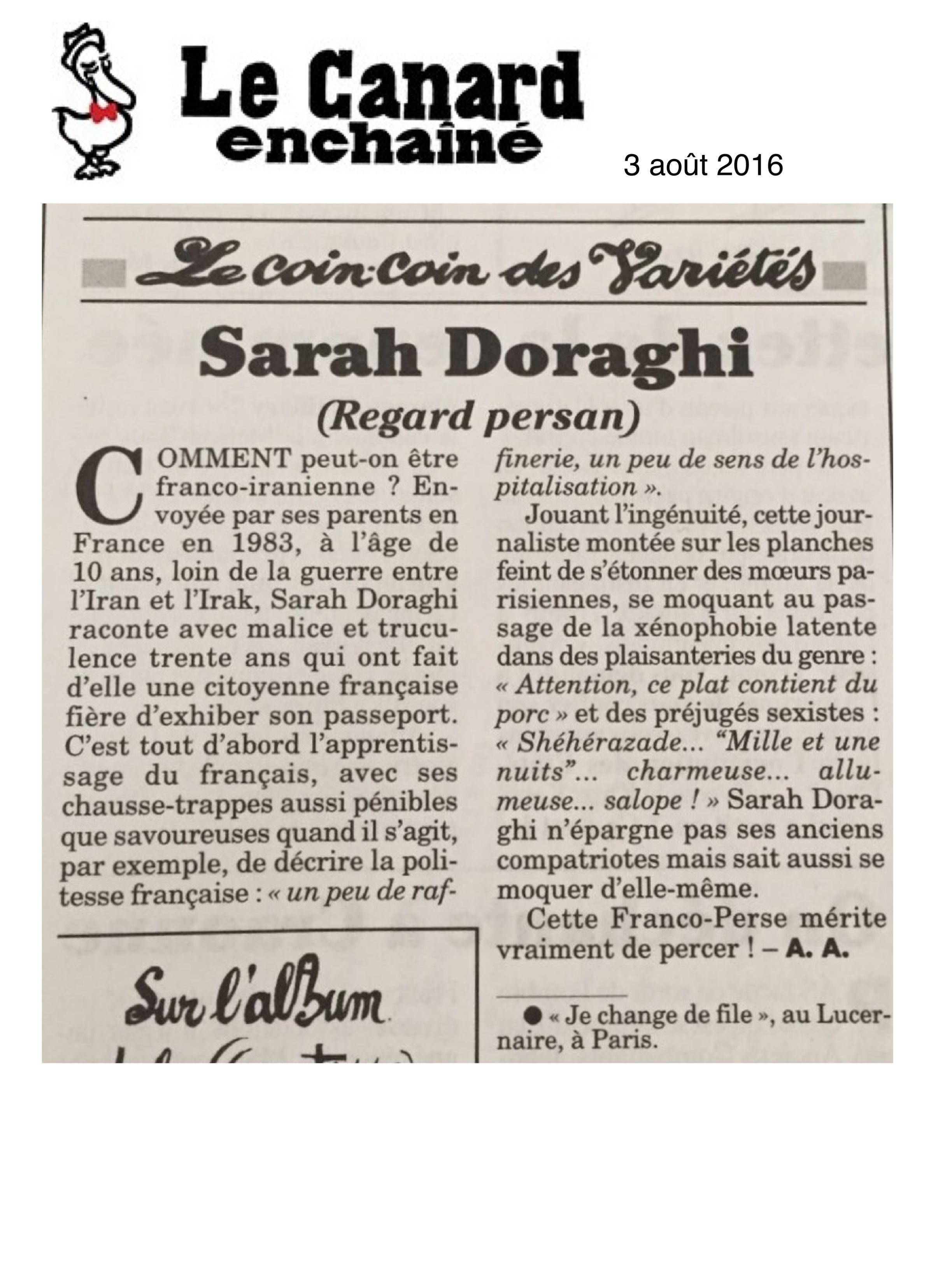Le Canard Enchainé 03.08.16