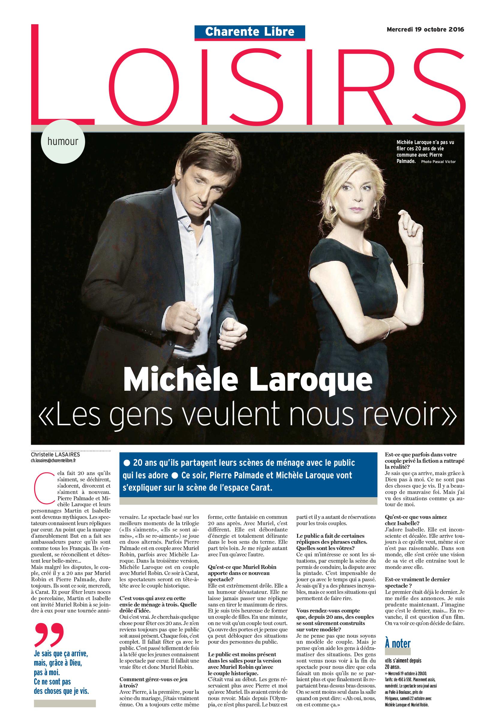 La Charente Libre merc 19 octobre