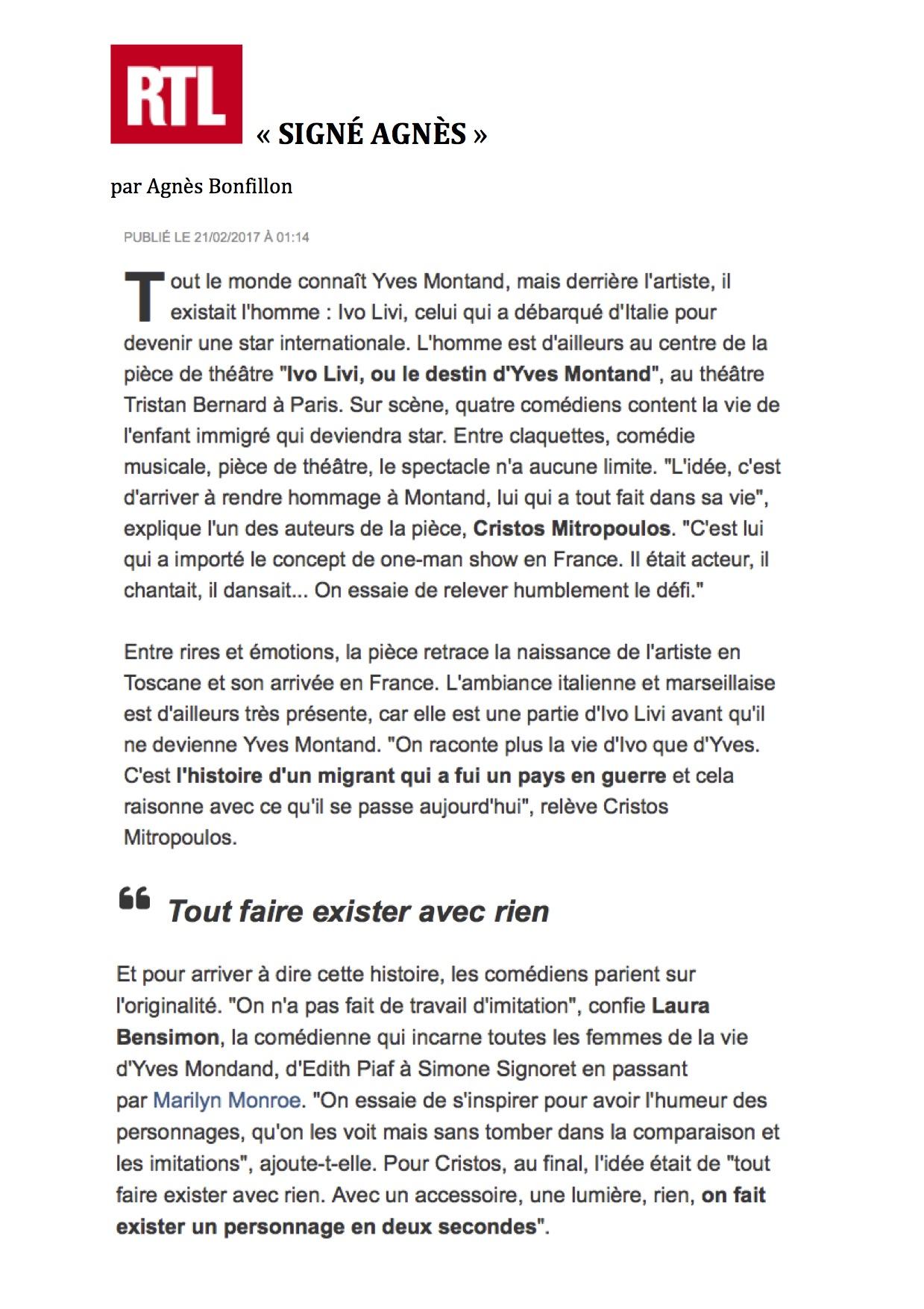 SIGNÉ AGNÈS - RTL 20.02.17
