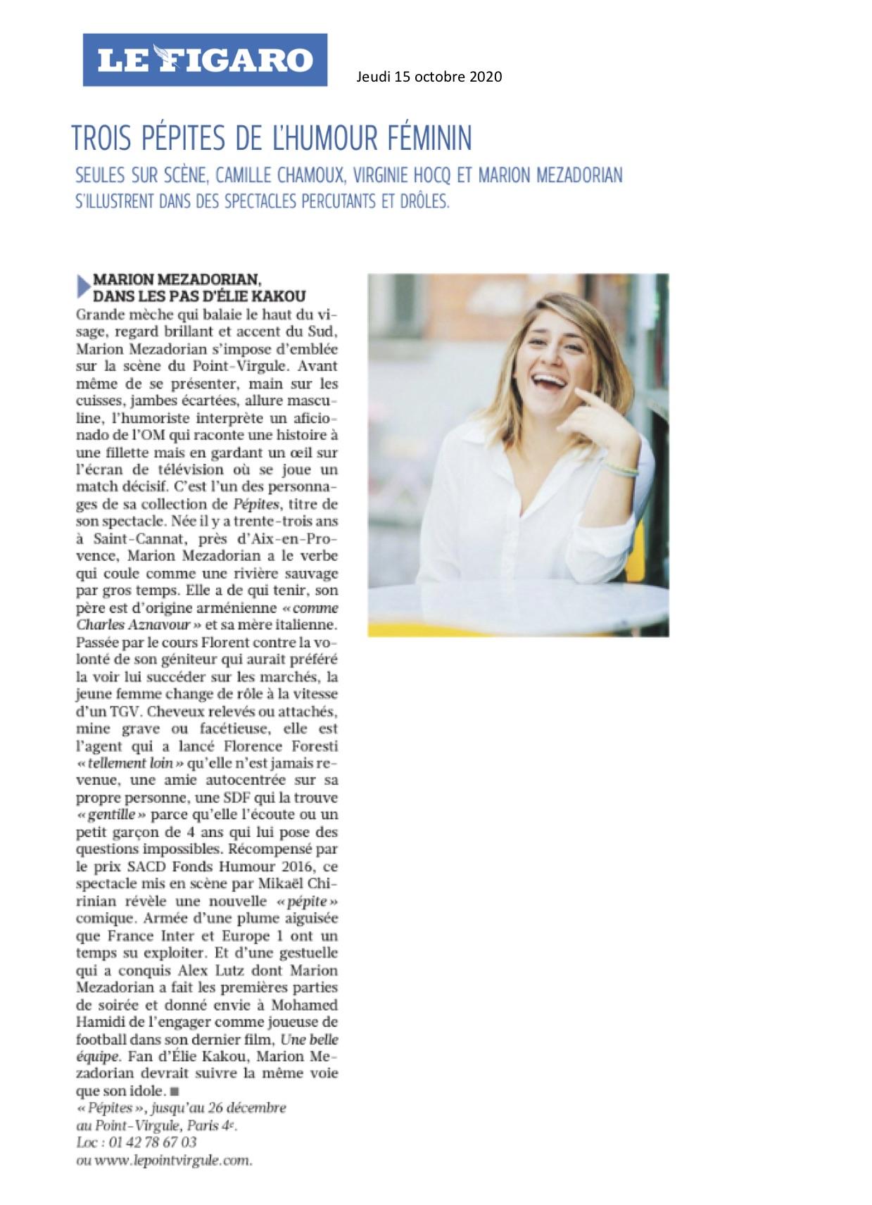 Le Figaro 15.10.20