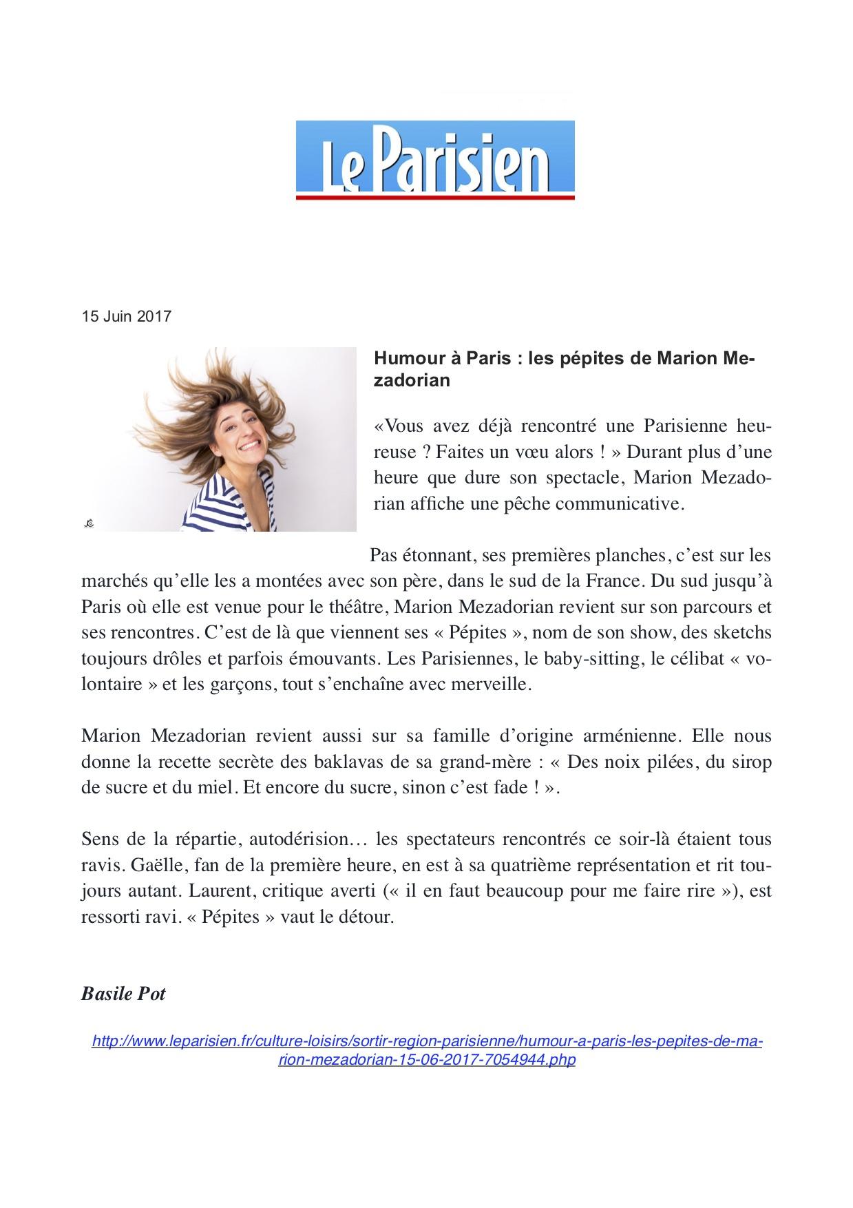 Le Parisien 15.06.17