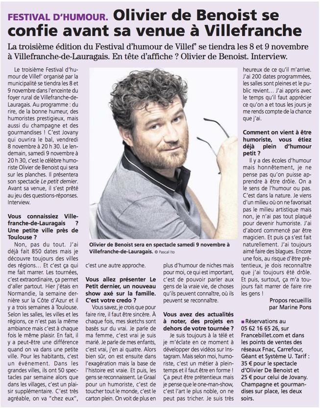 La Voix du Midi Lauragais 7.11.19