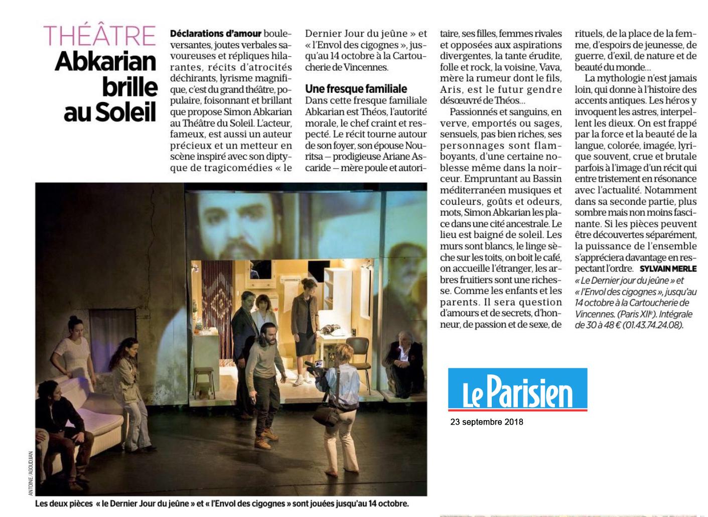 LE PARISIEN 23.09.18