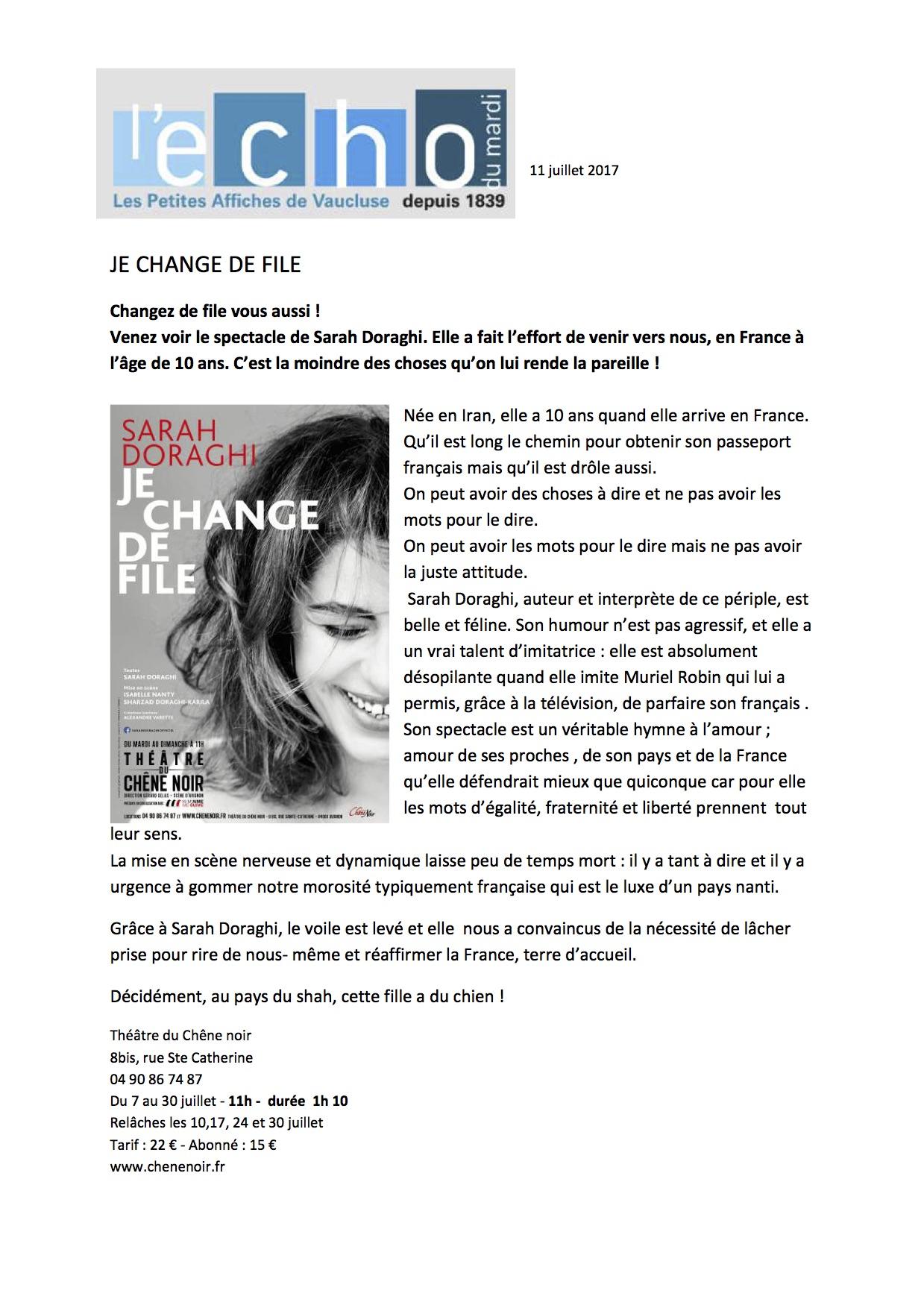 L'Echo Du Mardi 11.07.17