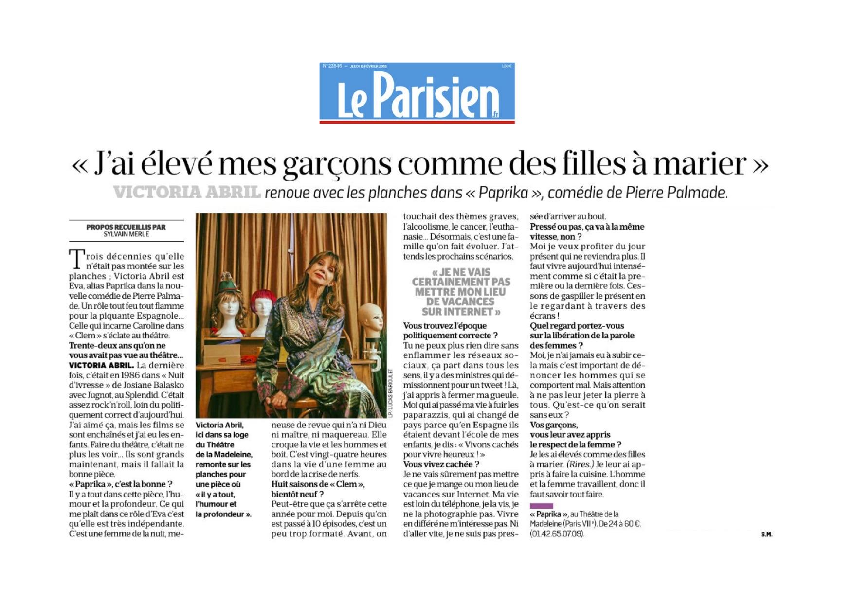 Le Parisien 15.02.18
