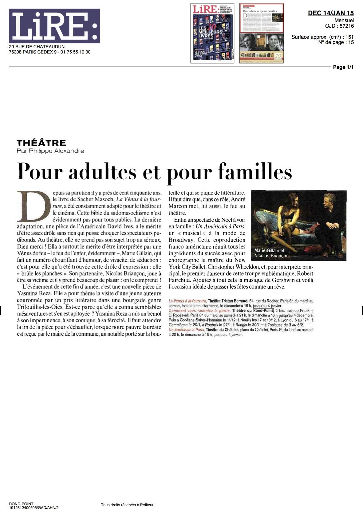 LIRE Magazine 27.11.14