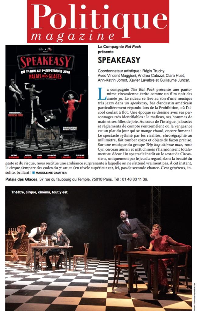 Politique magazine 09.07.18