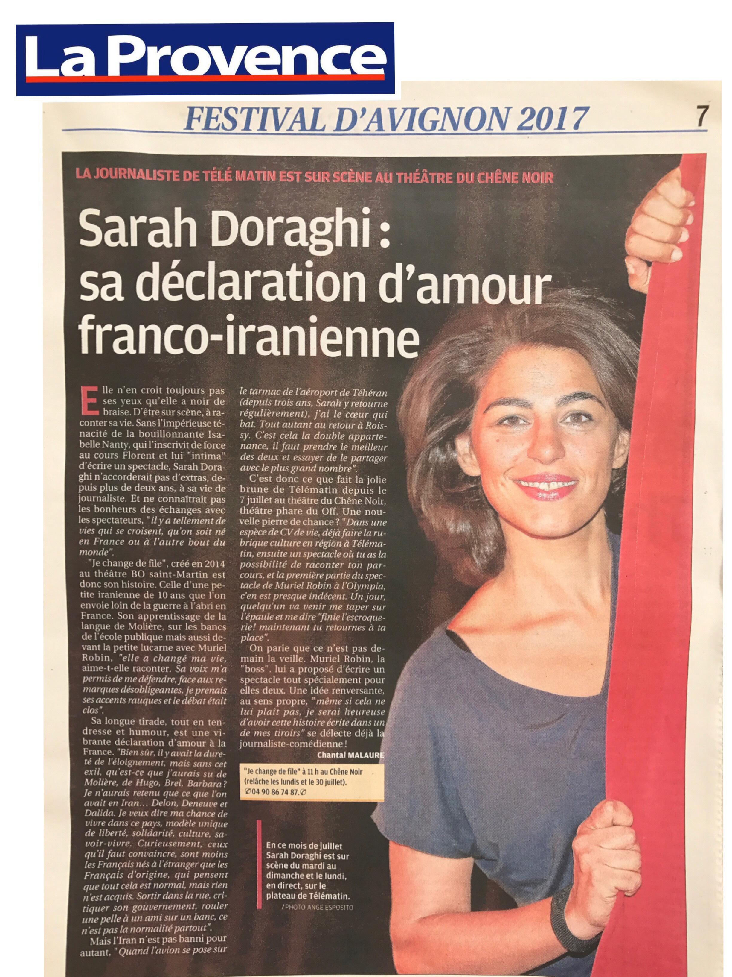 La Provence Sortir 12.07.17