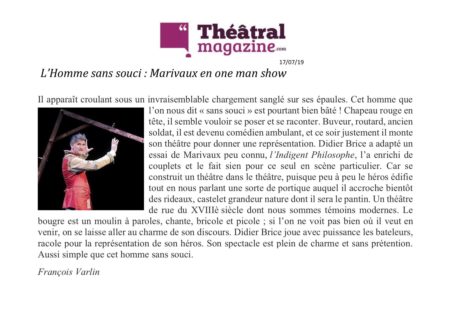Théâtral magazine 17.07.19