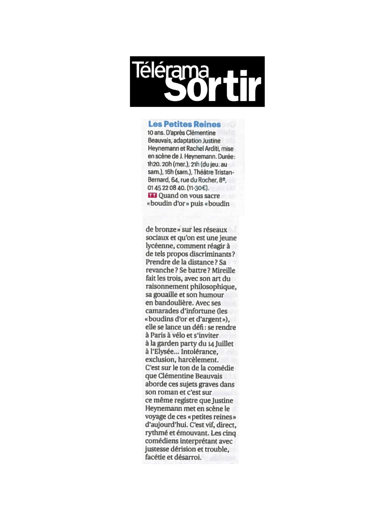 Télérama Sortie 06.06.18