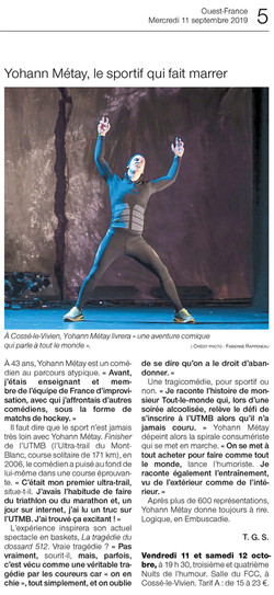 Ouest France 11.09.19