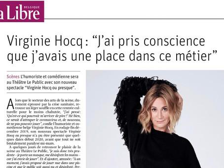 Interview dans LA LIBRE BELGIQUE