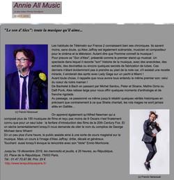 Annie All Music blog 16.10.19