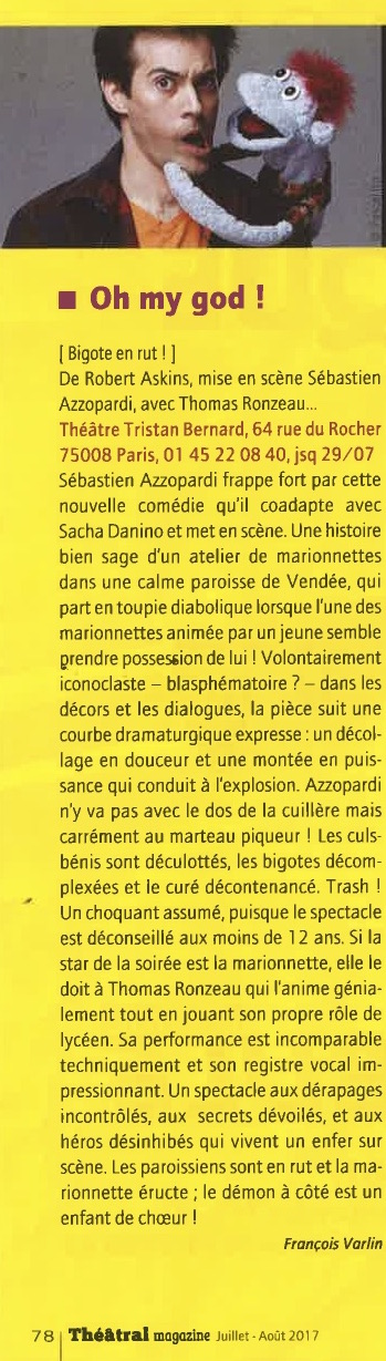 Théâtral Magazine juillet-août 17