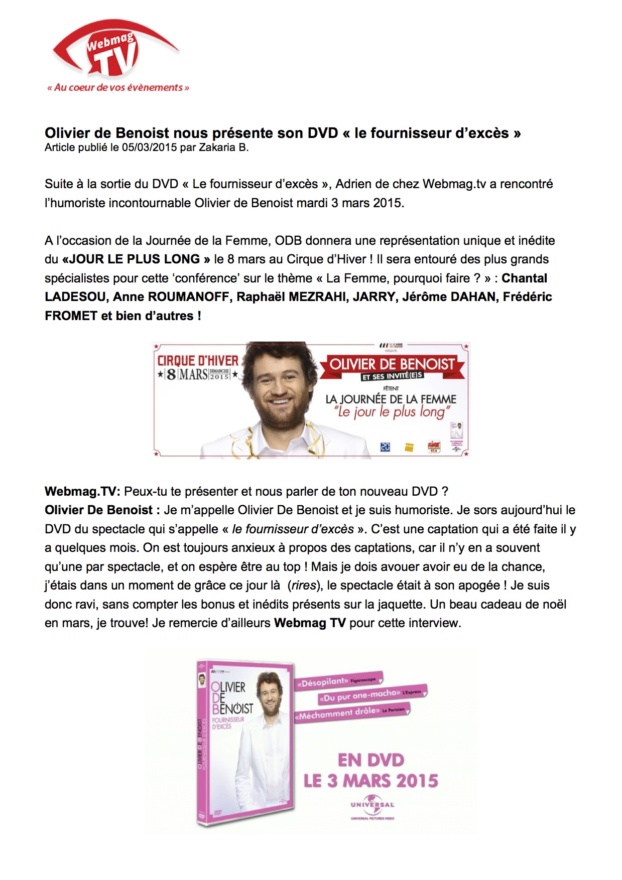 Webmag TV p1 - 05.03.15