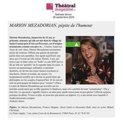 Théâtral Magazine 28.09.20