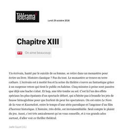 Télérama Sortir.fr 29.10.18