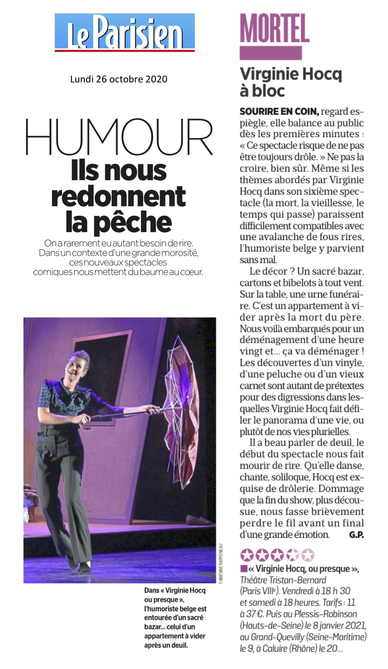 Le Parisien 26.10.20