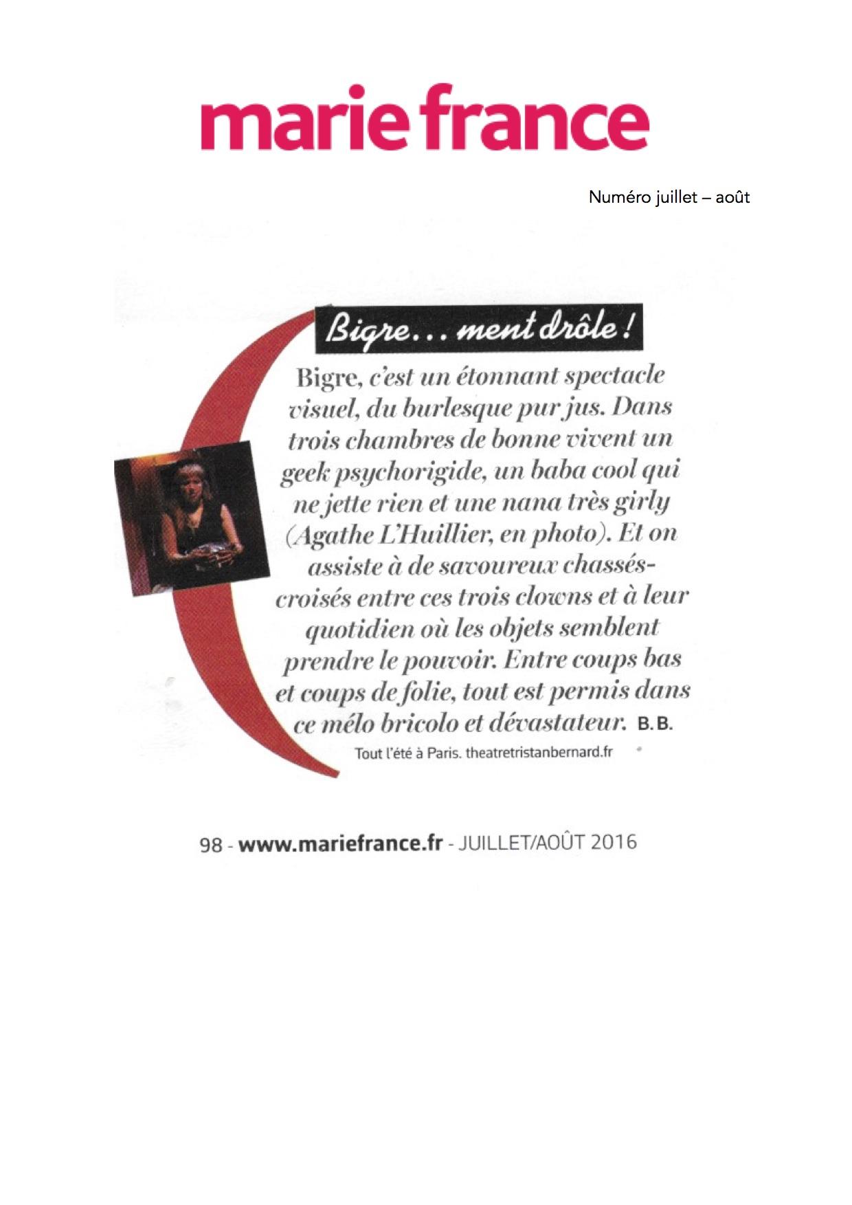 Marie-France Mag juillet-août 16
