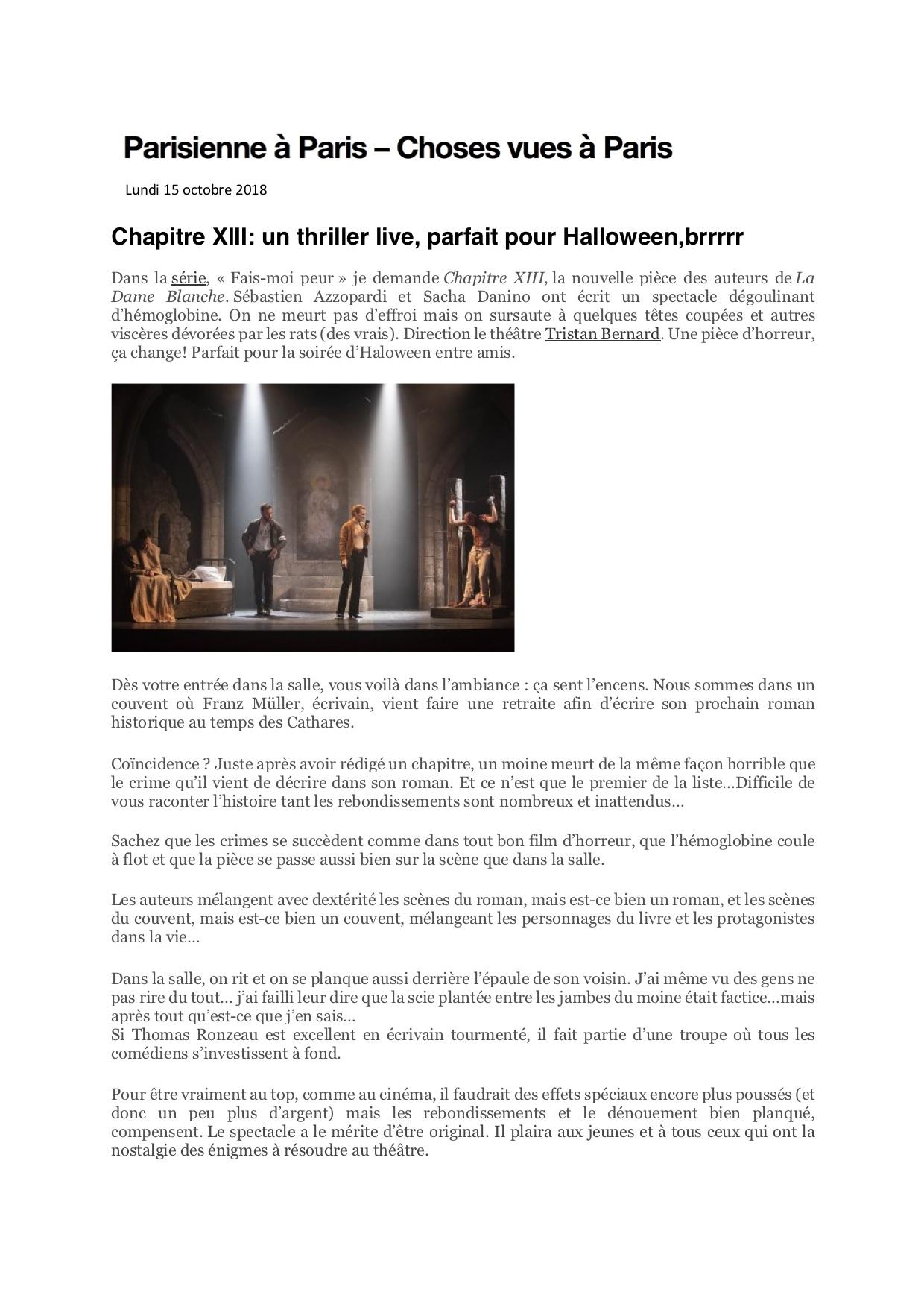 Parisienne à Paris blog 15.10.18