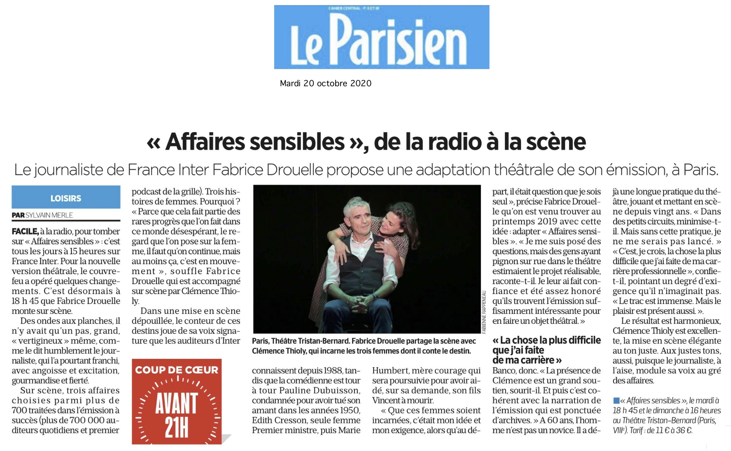 Le Parisien 20.10.20
