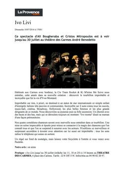 La Provence.com 10.07.16