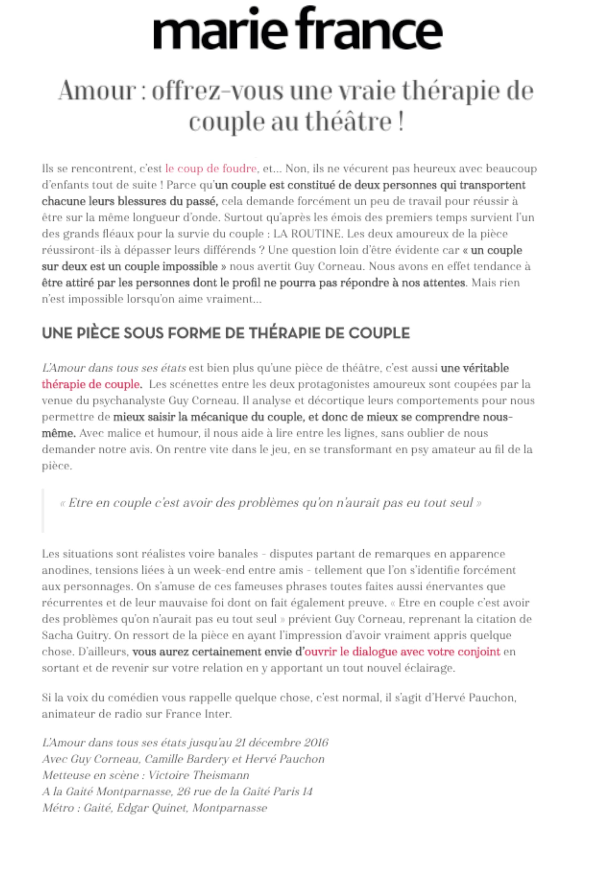 MARIE FRANCE 21 OCTOBRE