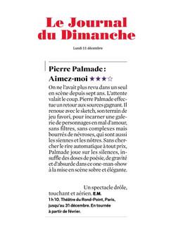 Journal Du Dimanche 10.12.17