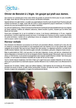 Actu.fr 25.10.19