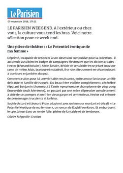 Le Parisien week-end 9.11.18