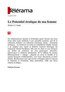 Telerama Sortir.fr 05.09.18