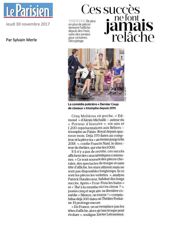 Le Parisien 30.11.17