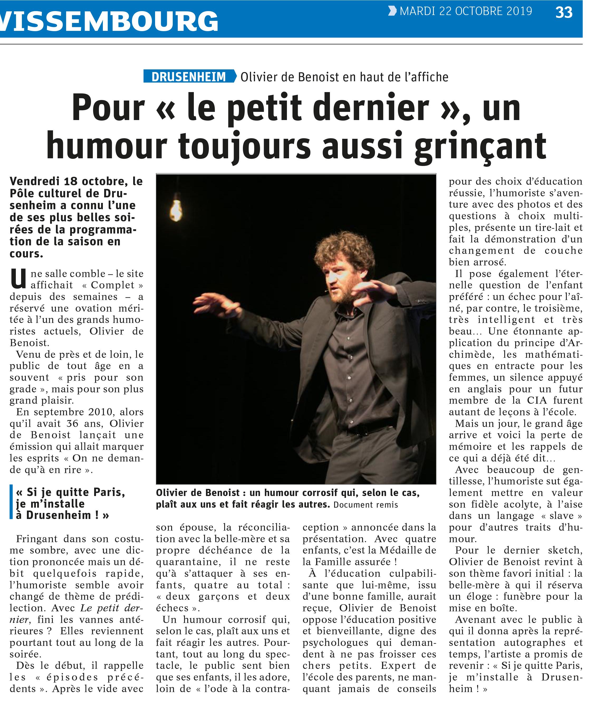 Dernières Nouvelles d'Alsace 22.10.19