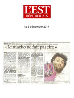 L'Est Républicain Belfort 03.12.14