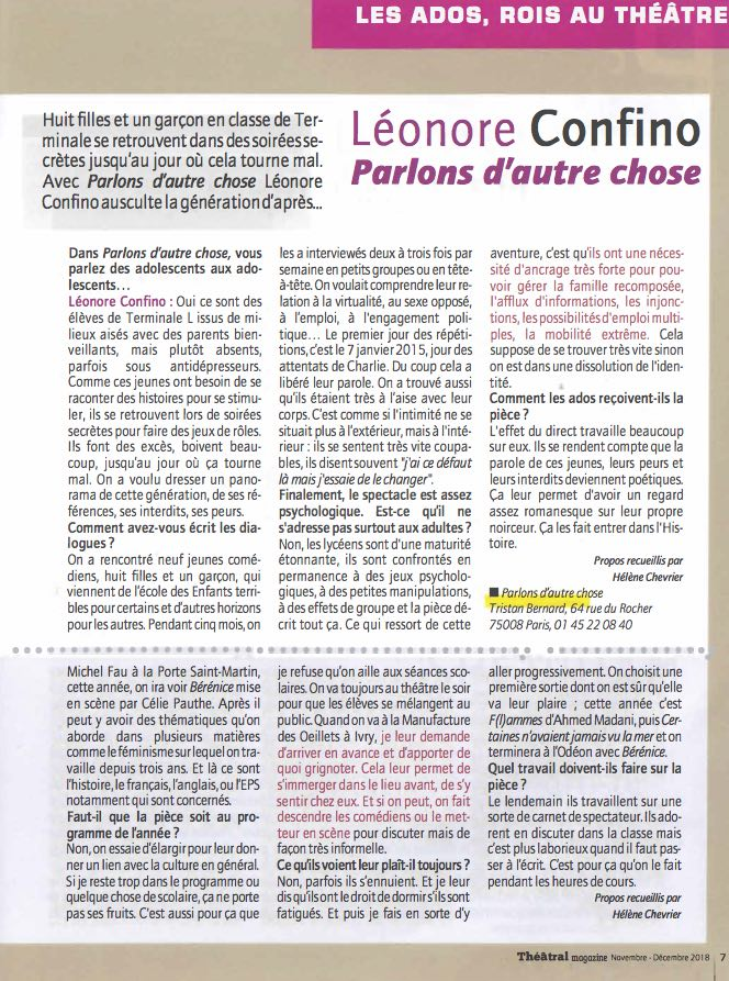 interview_Léonore_Confino_Théâtral_Magaz