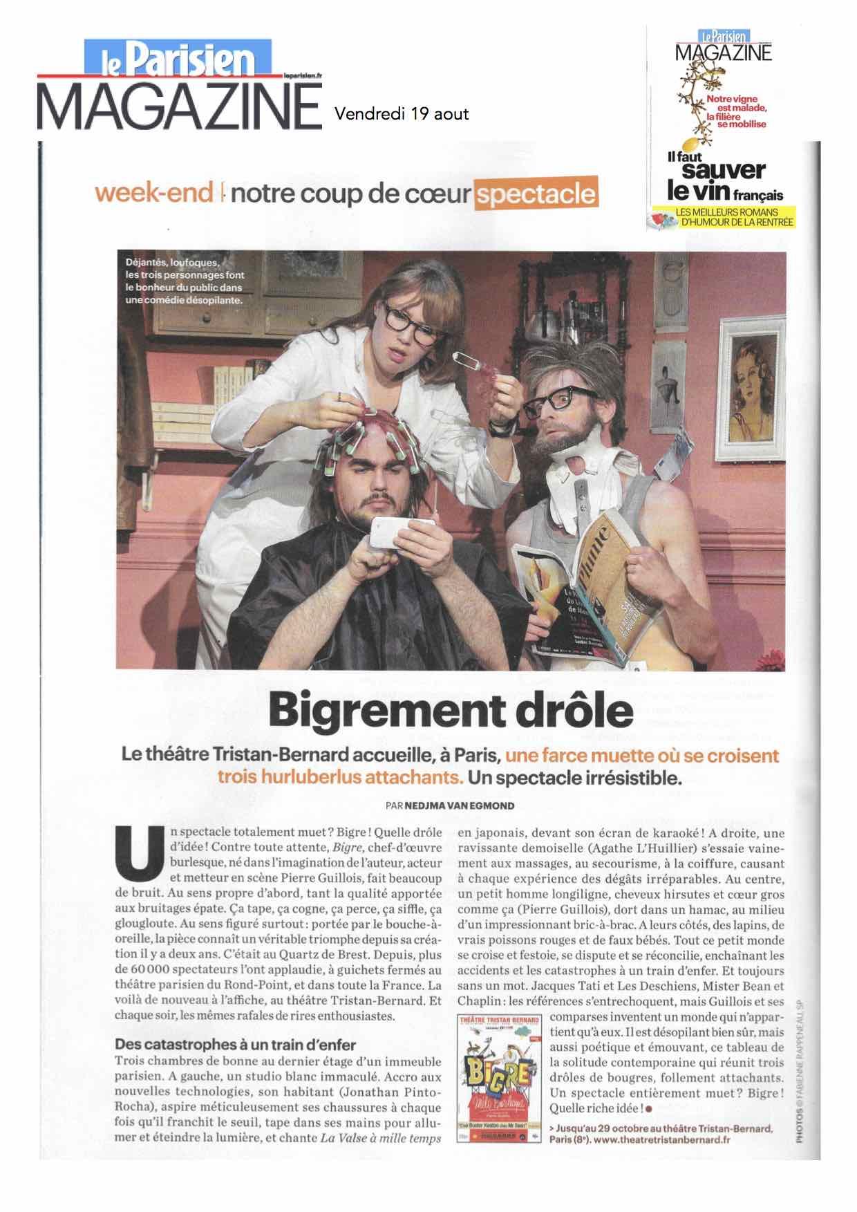 Le Parisien Magazine 19.08.16