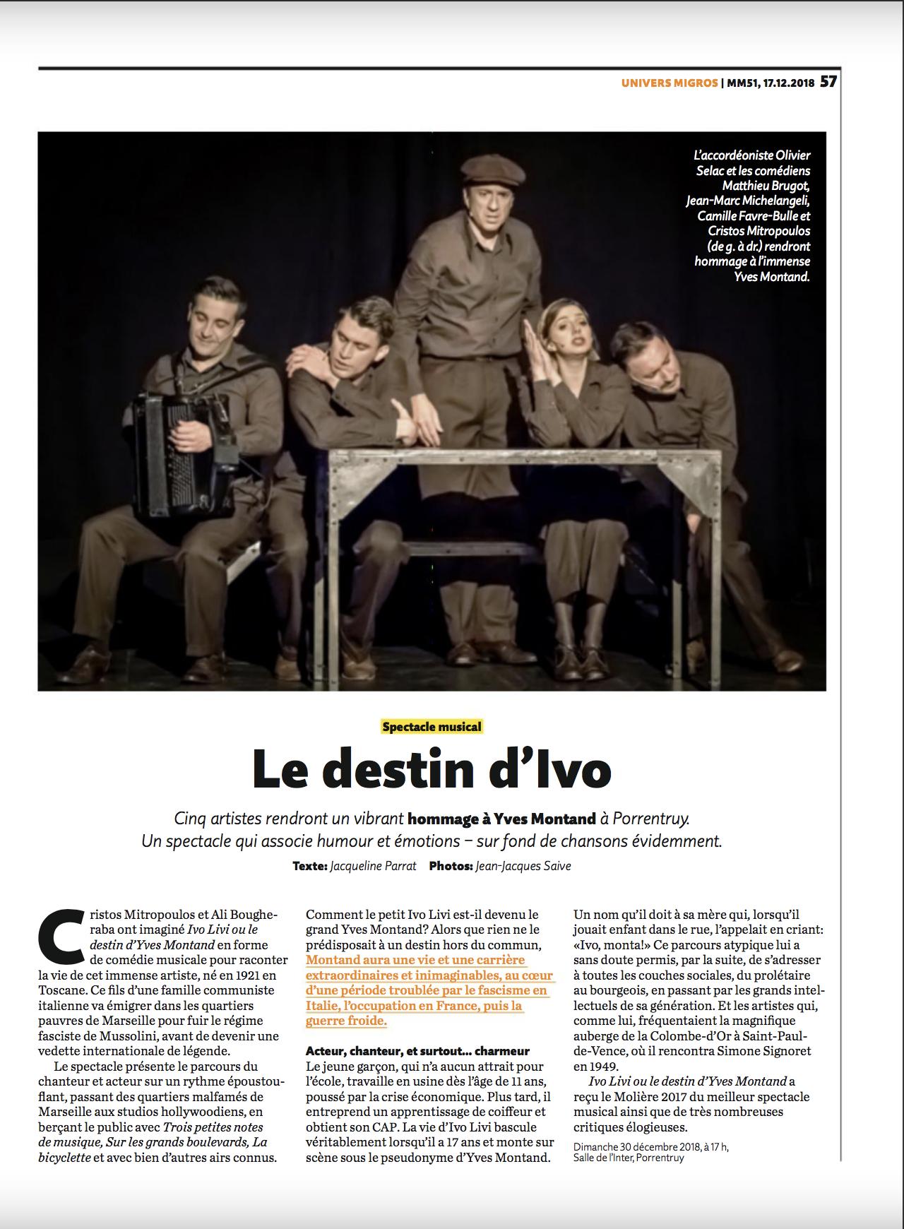 Migros Magazine 17.12.18