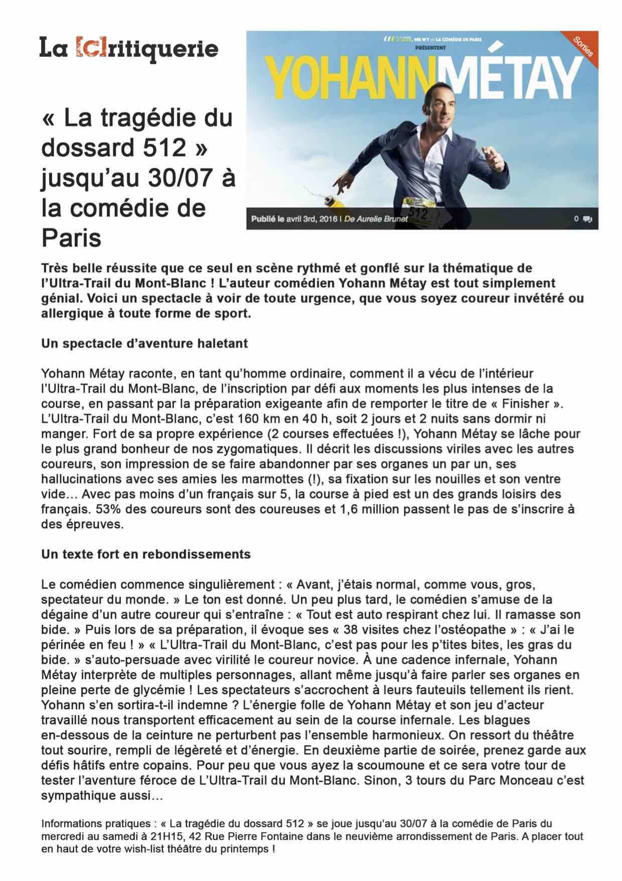 LaCritiquerie.fr 03.04.16