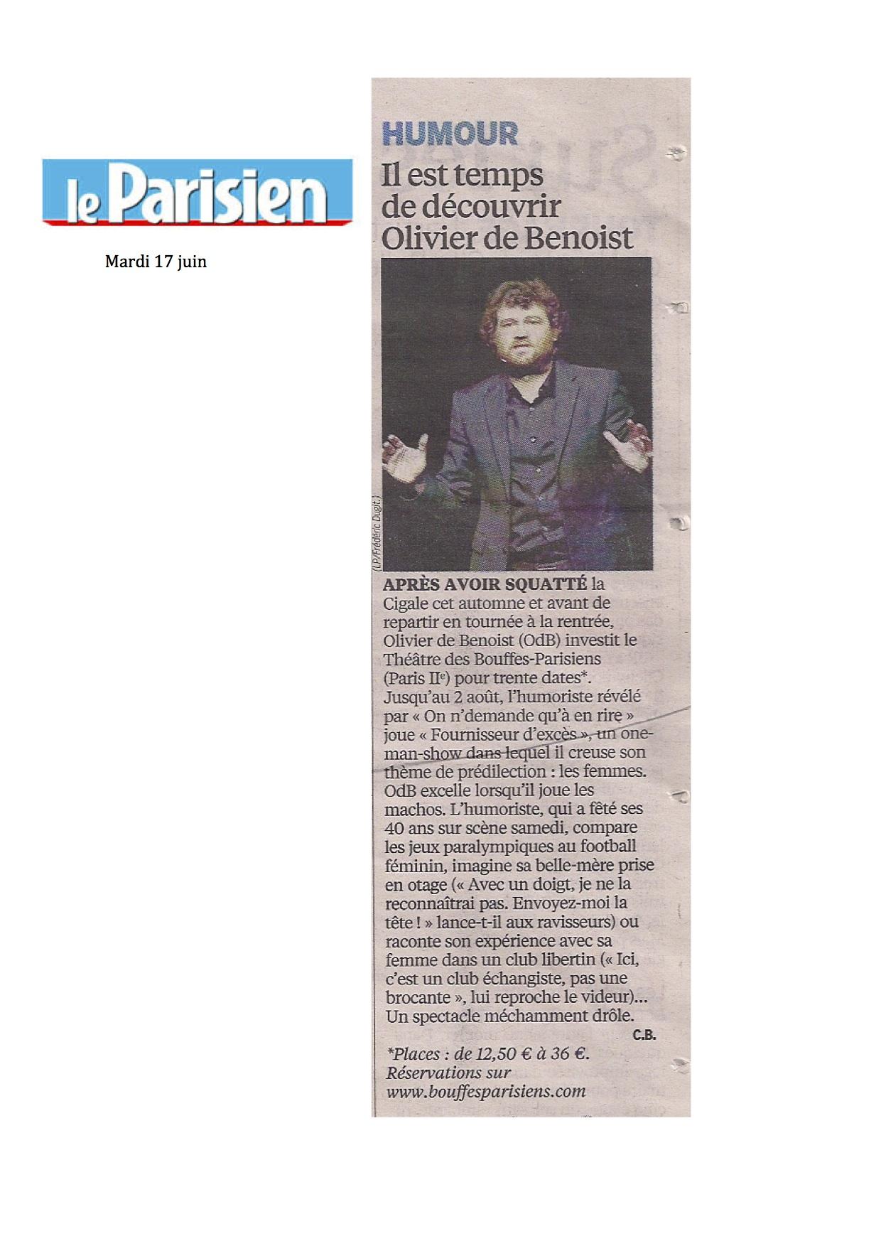 Le Parisien 17.06.14