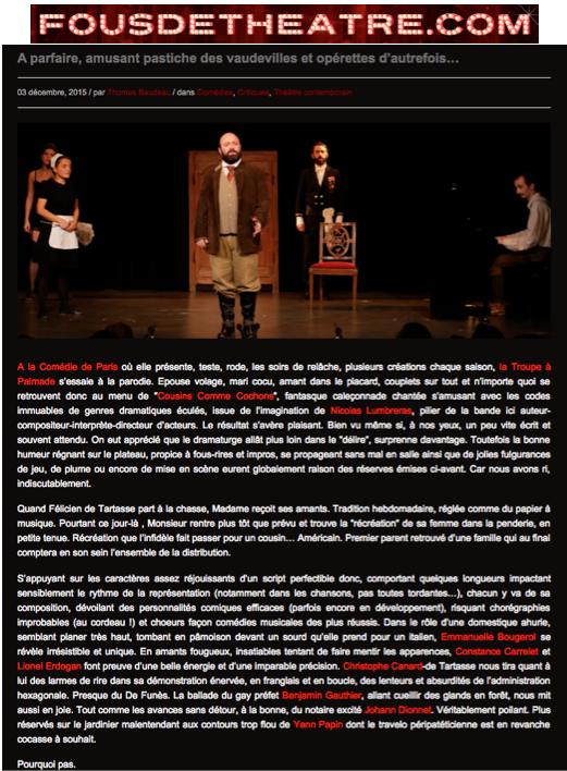 Fous de théâtre 03.12.15